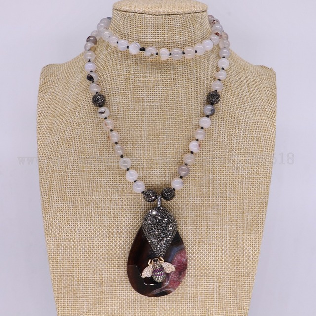 3 strands onyx necklace onyx pendants necklace with tassel bugs bees 3 strands onyx necklace onyx pendants necklace with tassel bugs bees pendant gems for women 3104 aloadofball