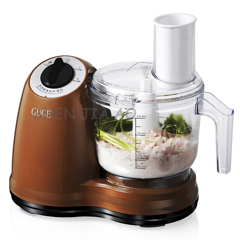 Household electric meat grinder multi-function automatic mincer food processor 2L Bleder mixer 220V penghui multi function household manual food processor meat grinder white orange