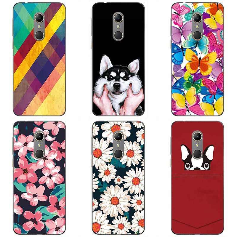 Для Vodafone Smart N9 Мягкий ТПУ модный стиль чехлы Мягкий силиконовый чехол для телефона чехол цветочный фон для фотографирования с яркими из зернистой кожи