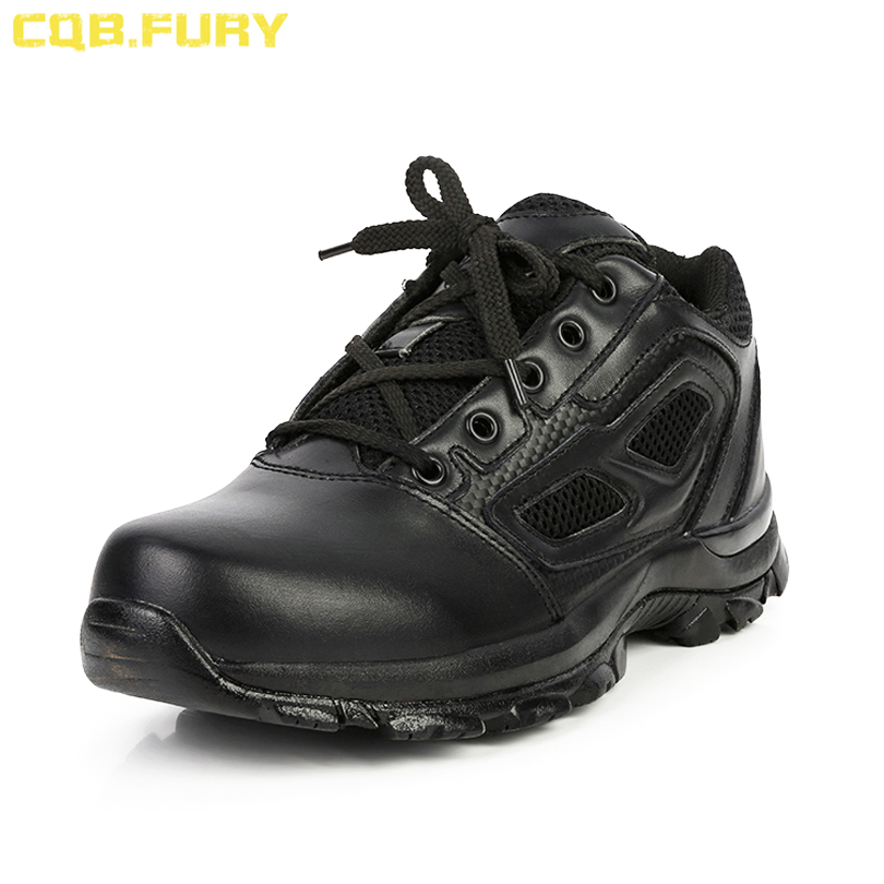 Motorcycle Boots Cqb.fury Mens Split Leather Lace-up Army Boots Black Tactical Summer Military Boots Ankle Strap Mesh Combat Boots Size 38-46