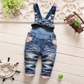 roupas de bebe Autumn Spring Baby Girls Denim Jeans Floral Print Overalls Pant Kids Casual Full Length Trousers