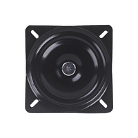150 x 150 x 2.0mm Metal Black Ball Bearing Square Swivel Turntable Chair Swivel for Bar Stool Chair