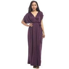 Платье для беременных Вечернее Длинное свободное с глубоким V образным вырезом