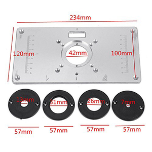 Image 3 - Router Table Plate 700C Aluminum Router Table Insert Plate + 4 Rings Screws for Woodworking Benches, 235mm x 120mm x 8mm(9.3in