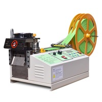 XL 988 Computer Hot and Cold Cloth Belt Tape Cutting Machine Auto Magic Adhesive Tape Zipper Webbing Machine CE certificate