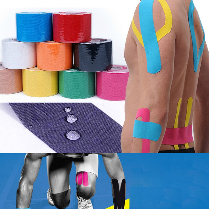 5M*5CM Cotton Blend Elastic Bandage Sport Tape Roll Kinesiology Adhesive Muscle Strain I ...