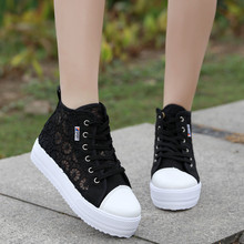 Women Shoes Womens Sneakers Shoes Summer Muffin Shoes High Help Thick Bottom Mesh Shoes Lace Up Loafers Wedge Sneakers Flats punk shoes big shoes shoes special custom opal thick lace muffin bright skin in custom 1304s shoes merchandiser