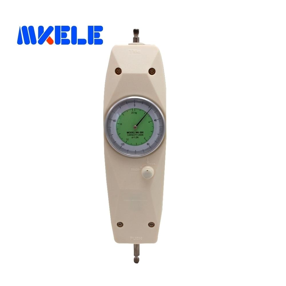 NK-200 200N Pointer Dynamometer Analog Push Pull Force Gauge Tester Meter nk 200 analog pointer force gauge pull
