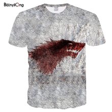 BIANYILONG men t shirt mew Game Of Thrones Vintage Tees Men T Shirt Series House Stark Targaryen 3d peinted T-Shirt Men Family(China)