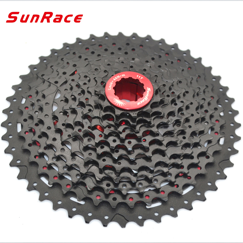 SunRace 11 Speed Mountain Bicycle Freewheel CSMX8 11 46T 11 42T Flywheel Teeth Crankset Cycling Cassette