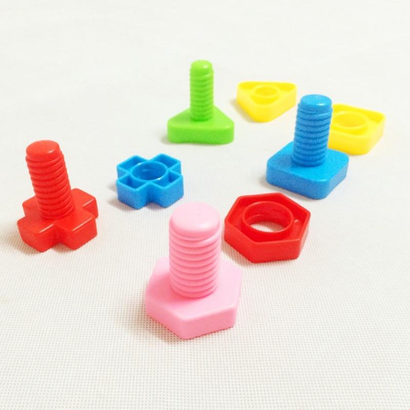 4 Stks Van Bijpassende Training Plastic Schroef Vogels Speelgoed Willekeurige Kleur