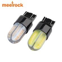 Meetrock 2 pcs new super bright 360 degrees cob silica gel T20 W21 5W 7443 LED
