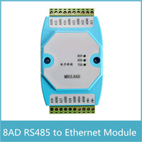 8 kanäle Analog Signal Erwerb Modul Modbus RTU Protokoll RS485 zu Ethernet 4 20mA/0 20mA Analog Signal|rs485 length|rs485 wirelessrs485 port -