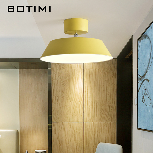 BOTIMI Nordic LED Ceiling Lights With Dimmable Remote New Design Lamp For Dining Room Modern