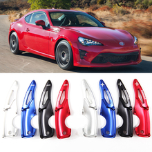 tommia 2pcs Steering Wheel Aluminum Shift Paddle Shifter Extension For Toyota 86 2017-19 Car-styling