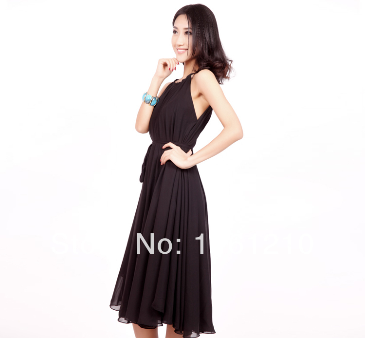 Black Knee Length Summer Holiday Beach Maxi Dress Wedding Party Guest Sundress Plus Size Boho Maternity In Dresses From Womens Clothing Accessories