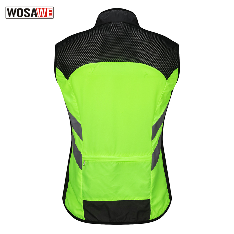 WOSAWE Reflective Motorcycle Vest Motocross Sports Team Uniform High Visibility Safety Vest Ultra Lightweight Waterproof Jacket in Reflective Safety Clothing from Automobiles Motorcycles