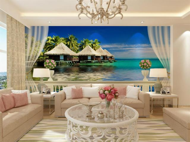 3d wallpaper benutzerdefinierte hd foto mural 3d balkon. Black Bedroom Furniture Sets. Home Design Ideas