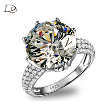 925 Sterling Silver Rings With Big Australian Crystal for Women Men Jewelry Rings Engagement Wedding Accessories Bijoux hh064