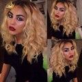Dois Tons 1b/613 Ombre Lace Wig Brasileiro Virgem Ombre Cheia Do Laço perucas de Cabelo Humano Com Cabelo Do Bebê Para As Mulheres Negras Moda Ombre peruca