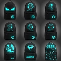 Fashion Backpack Student Nightlight Animation School Boys and Girls Bag Junior USB Charging Computer Anti theft Laptop Backpack