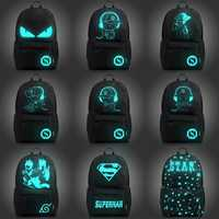 Fashion Backpack Student Nightlight Animation School Boys and Girls Bag Junior USB Charging Computer Anti-theft Laptop Backpack