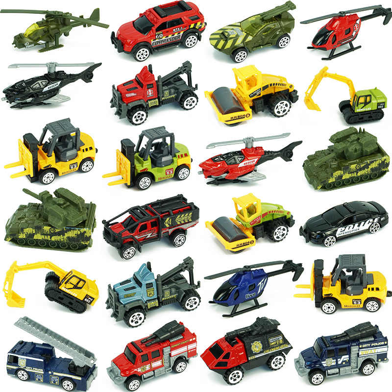 33 スタイルダイキャスト金属おもちゃの車のモデル合金憲兵ホイールショベルトラクターギフト子供のためのコレクション値