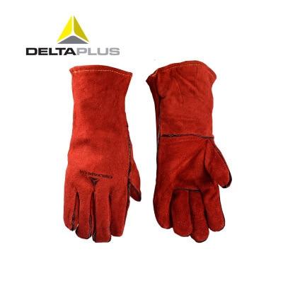 Deltaplus welding gloves welder's cowhide high temperature resistance wear-resistant long design wear-resistant work gloves