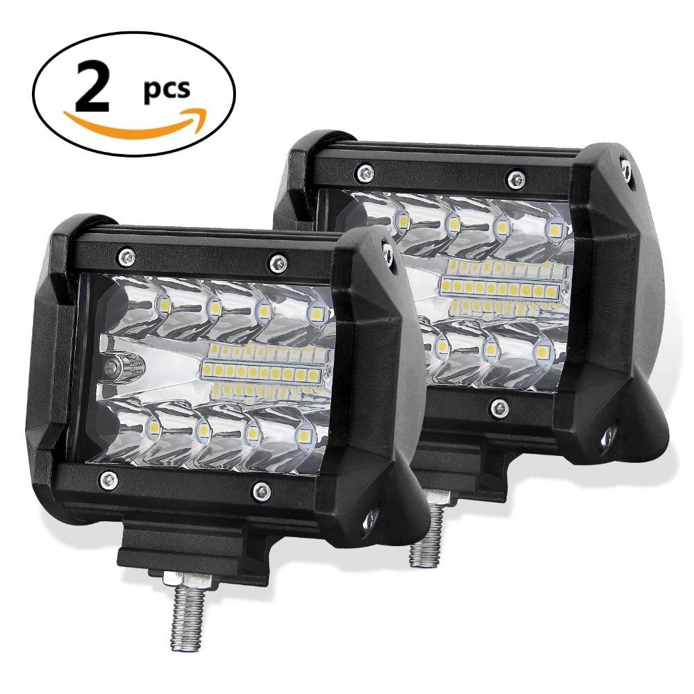 CO LIGHT 4 3-Row LED Bar 120W Combo LED Work Light Bar 12V 24V Spotlight Flood for Auto Offroad UAZ Boat Tractor Truck 4x4 ATV
