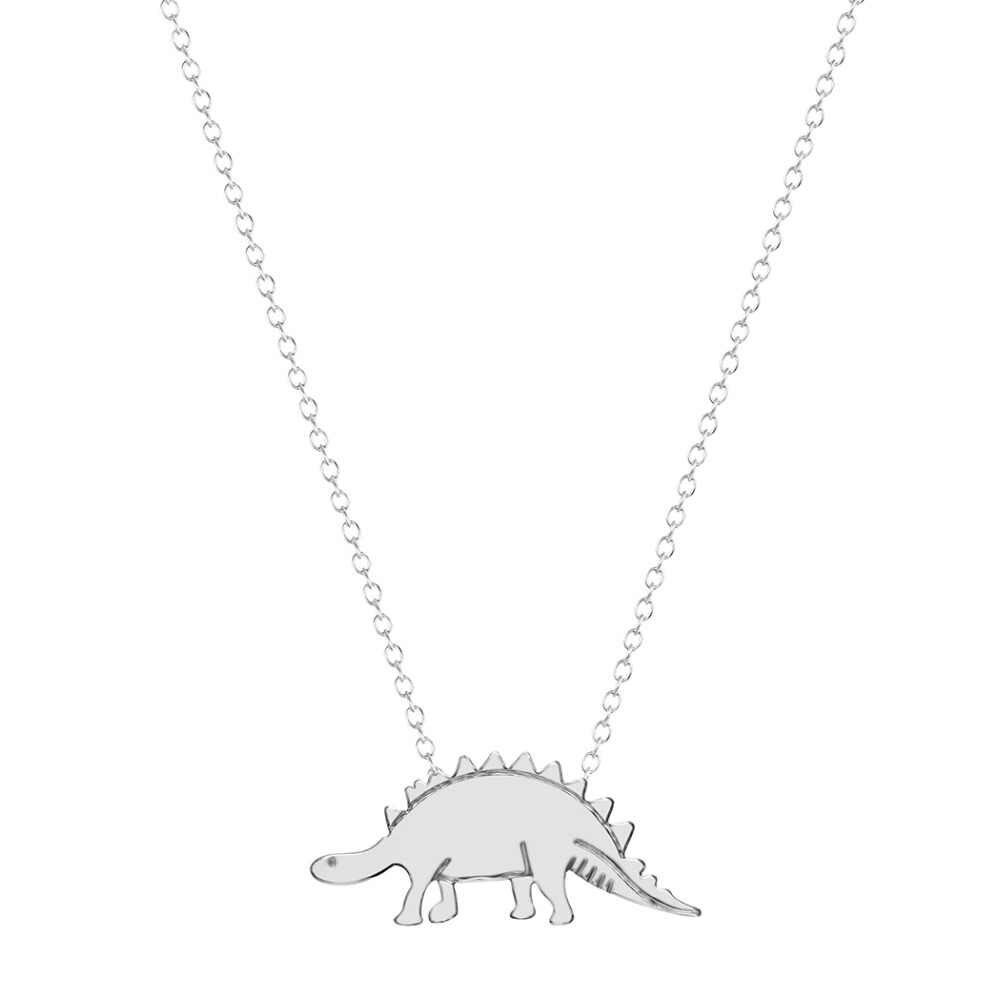 Cxwind Nhỏ Động Vật Khủng Long Cổ cho Nữ Charm Stegosaurus Cổ & Mặt Dây cho Người Bạn Thân Nhất Trang Sức collares