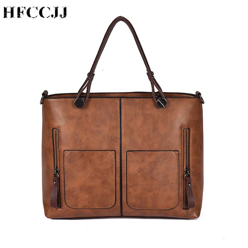 Women Handbags Messenger-Bag Ladies Tote Larger HC006 Vintage Fashion Double-Pockets