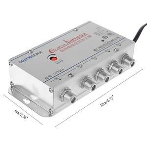 Image 2 - New 4 Way CATV VCR TV Antenna Signal Amplifier 220V 45 860MHz Booster Splitter