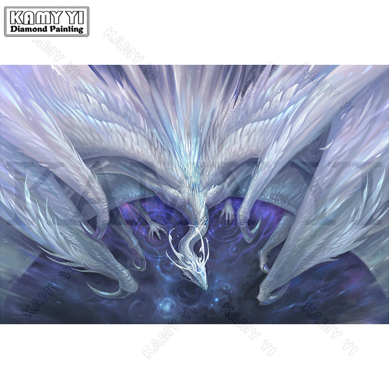 3D Needlework Diy Diamond Painting Beautiful Dragons Diamond Embroidery Full Pasted Decorative Wall Stickers Cross Stitch Crafts