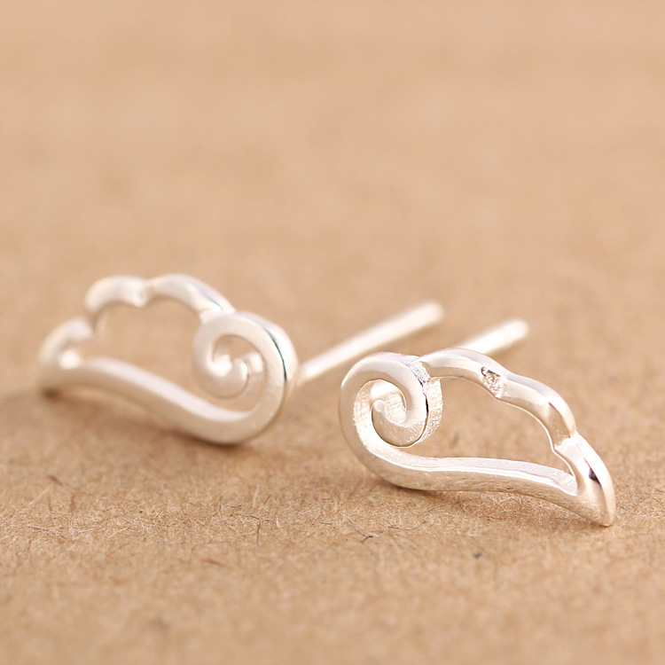 Tiny Angel Wing Earrings - Sterling Silver uIhqyJnS5