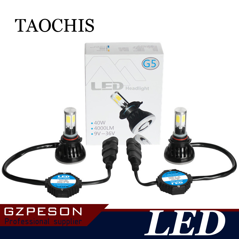 ФОТО TAOCHIS Auto Car LED Headlight H1 H3 H7 H11 880 881 9005 9006 9004 9007 H4 H13 6000k White Waterproof Bulb Foglamp Fan Cooling