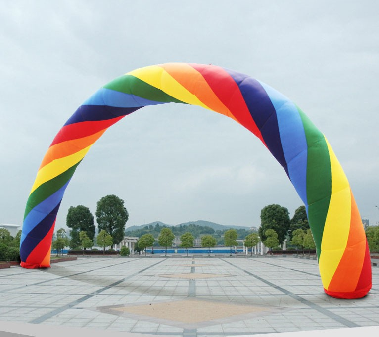 ФОТО 20ft*12ft D=6M inflatable Rainbow arch for Advertisement Party Supplies/Event Decorations/Inflatable Products