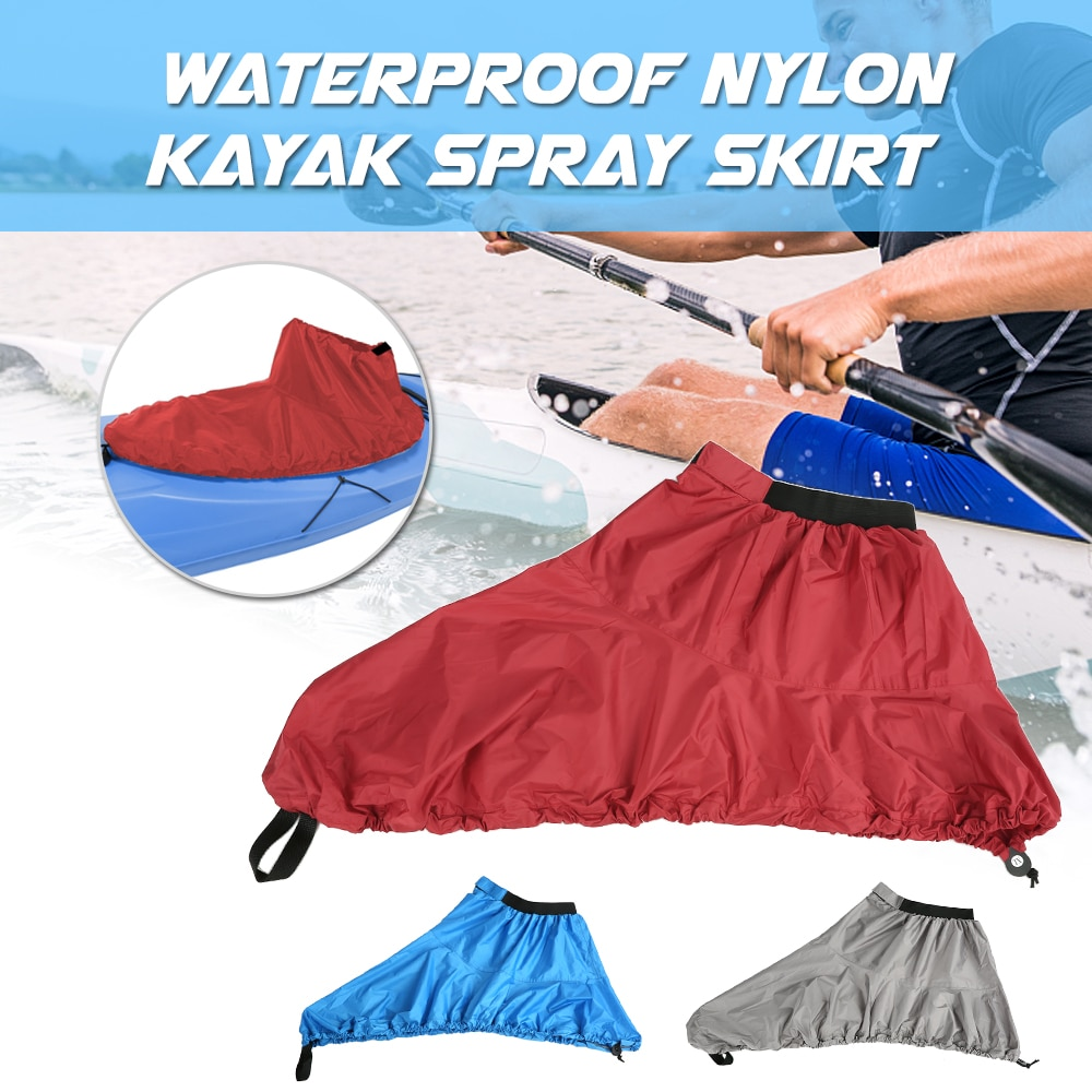 Waterproof Nylon Kayak Spray Skirt Durable Adjustable Water Sport Deck Sprayskirt Deck Cover Outdoor Water Sports Kayaks Boats