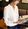 Новые моды для женщин с длинными рукавами рубашки осень мода блузка Корейский свободные тонкий шифон рубашка с длинным рукавом размер рубашки
