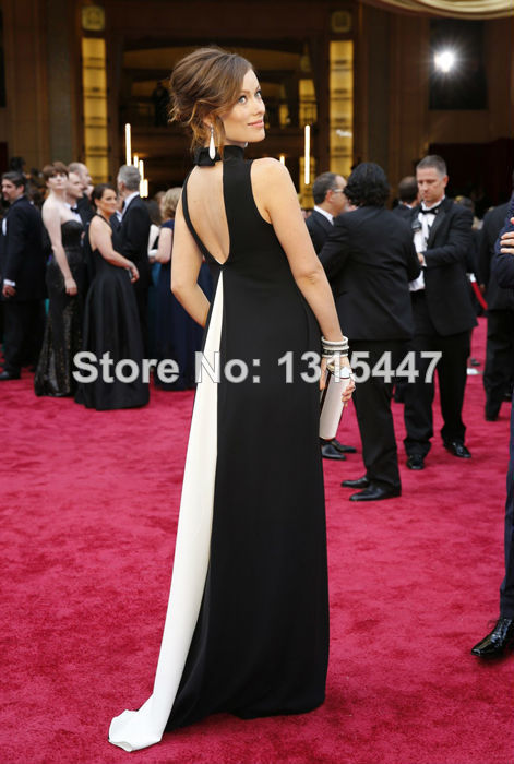 Olivia Wilde Oscars Celebrity Maternity Dresses Black And White Bandage Dress 2017 Backless Y Women Formal Evening Gown In Inspired