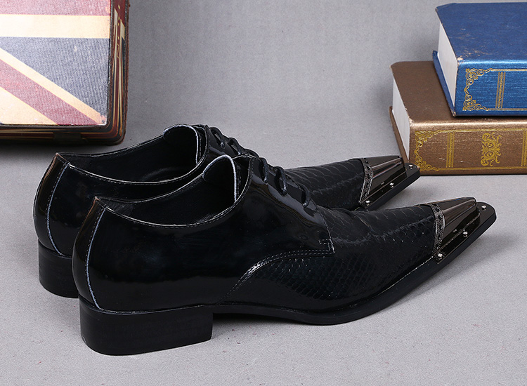 Fer Italien 2018 Brevet Chaussures Noir En Pointu Alligator De Mariage Pour Véritable As Bout Robe Cuir Picture Appartements Hommes w0x4dxgRq