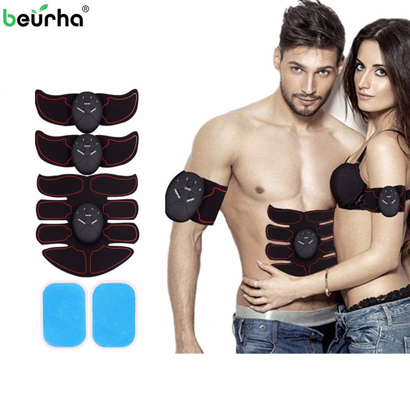 Electro EMS Muscle muscular Stimulator Wireless Tens Body Fittness Slimming Abdominal Muscle massageador myostimulator herbal muscle