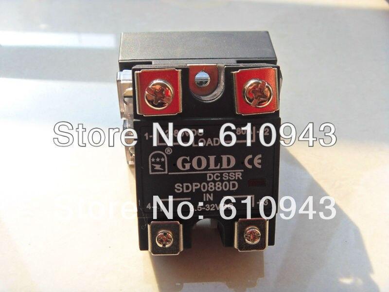 SDP0880D 80A SSR,Load voltage:12-80VDC,Control votlage:3-15VDC or 15-32VDC  or 3.5-32vdc Free Shipping10