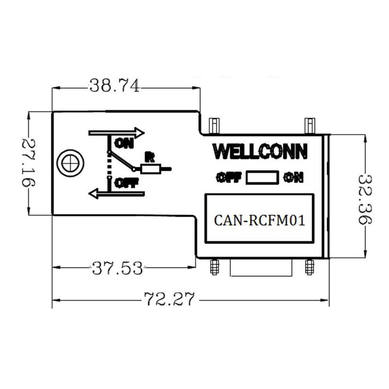 CAN bus Schnittstelle anschlüsse, CAN RCFM01 industrielle ...