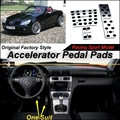 Car Accelerator Pedal Pad / Cover of Factory Model Design / Drill Type Install For Mercedes Benz SLK Class MB R171 2004~2010 AT