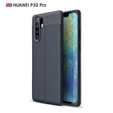 For Huawei p30 Pro Case litchee Texture Anti-knock Fashion leather skin Phone Cover