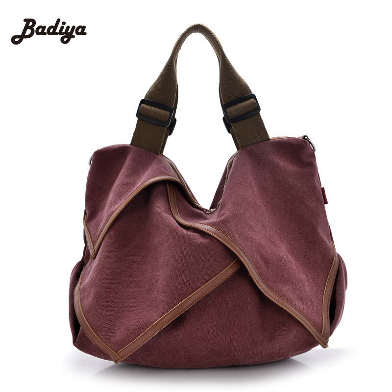 Aliexpress 2017 New Fashion Women Canvas Handbag Single Shoulder Messenger Bags Bag Lotus Leaf Vintage From