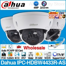 Dahua toptan IPC-HDBW4433R-AS orijinal 4MP IP kamera yerine IPC-HDBW4431R-AS desteği IK10 IP67 TF kart PoE CCTV güvenlik kamera