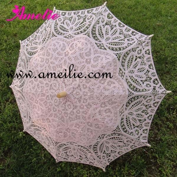 Whole Florence battenburg lace parasols