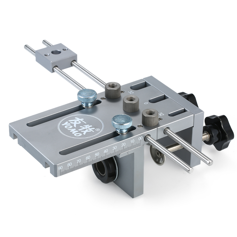 YOMO 3-in-1Hole Drill Punch Positioner Punching Locator Guide Locator Dowelling Jig For Furniture Fast Connecting Woodworking