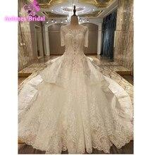 AOLANES 2018 Vsetido Train Bridal Gown Wedding Dress